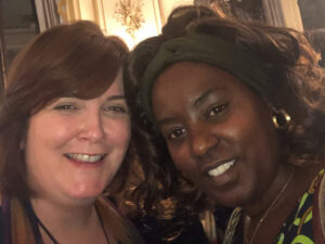 Oonagh McPhillips (Ireland '16) and Salome Mbugua (Ireland '10) featured together at an event in Ireland.