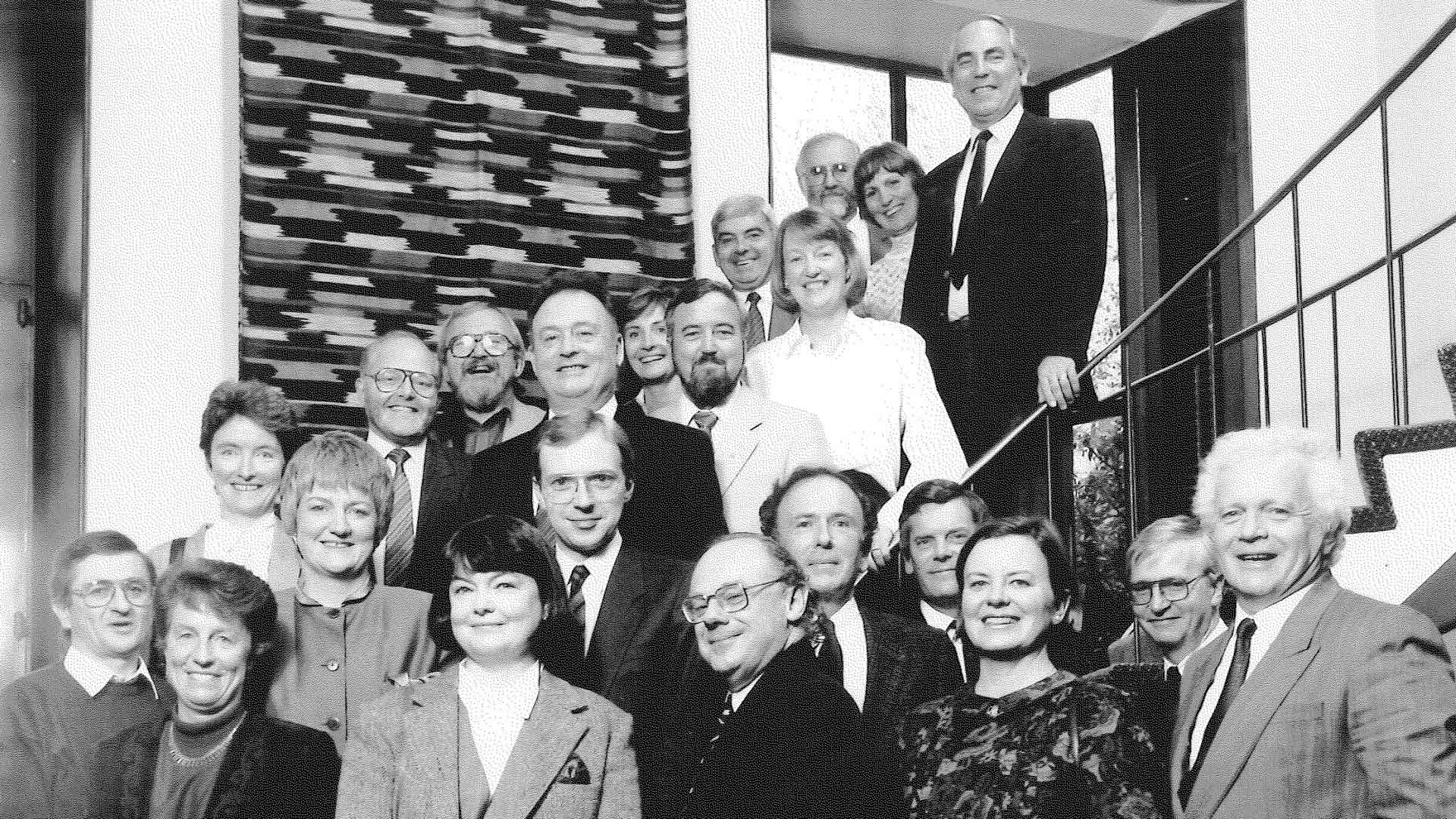 Securing and preserving the peace between the governments of Northern Ireland and the Ireland Republic (Fellows and their spouses from the 1989 Island of Ireland program)