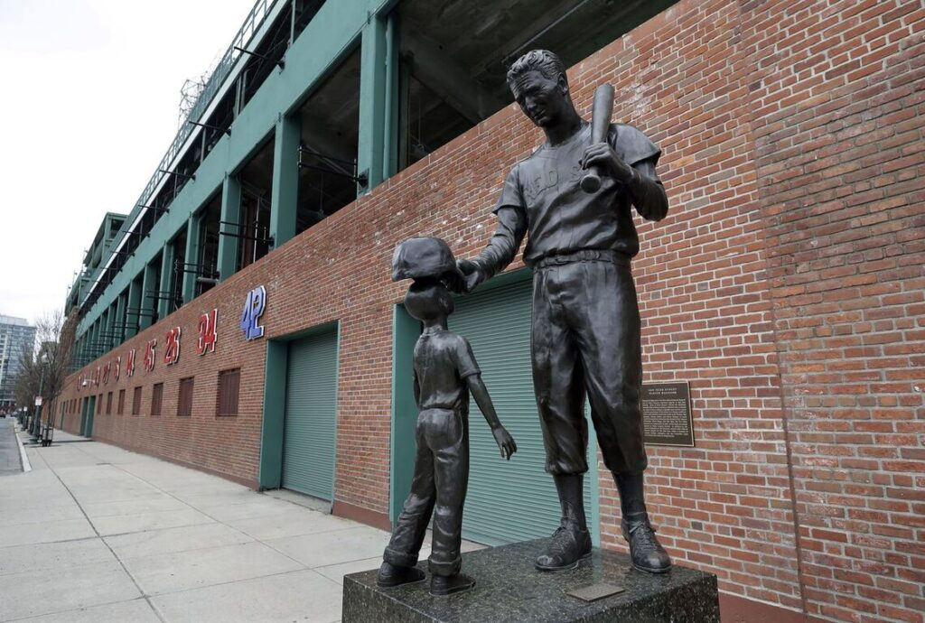 Fenway Park Red Sox statue